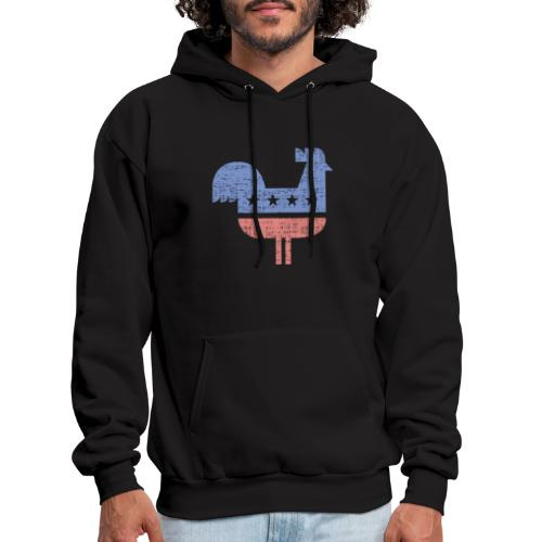 chicken party distressed - Men's Hoodie