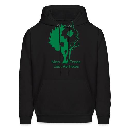 in tree black text - Men's Hoodie