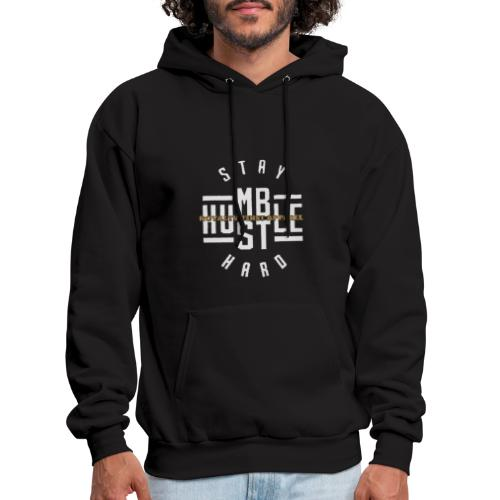 Stay Humble Hustle Hard Royalty First Apparel Logo - Men's Hoodie