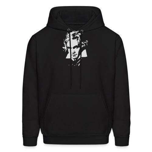 Ludvig Van Beethoven negative for dark shirts - Men's Hoodie