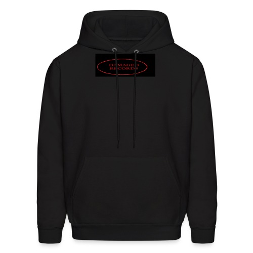 Damaged Records Red And Black Logo Sticker Hoodies - Men's Hoodie