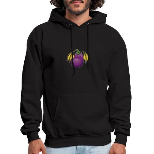 Eggplant Logo With White Outline - Men's Hoodie