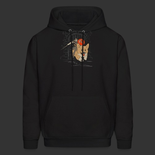 A Corgi Knight charges into battle - Men's Hoodie