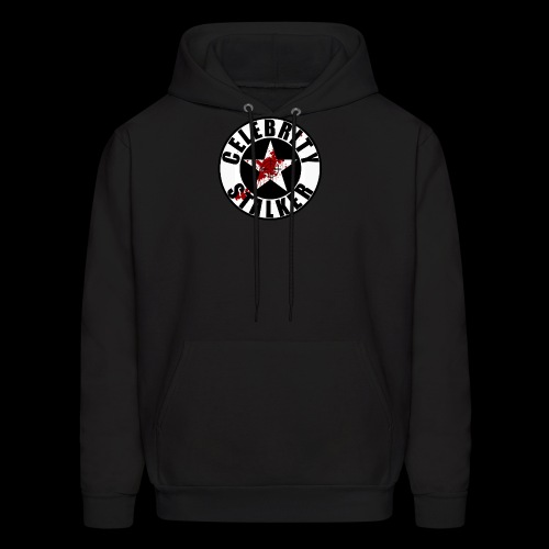 Celebrity Stalker Bloody Circle Logo - Men's Hoodie