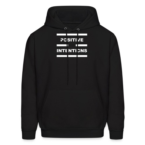 Positive Intentions White Lettering - Men's Hoodie