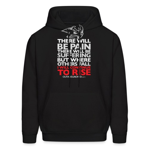 there will be pain Gym Motivation - Men's Hoodie