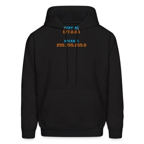 Stay At Home Black T-Shirt - Men's Hoodie