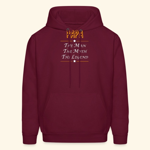 Papa the man the myth the legend - Men's Hoodie