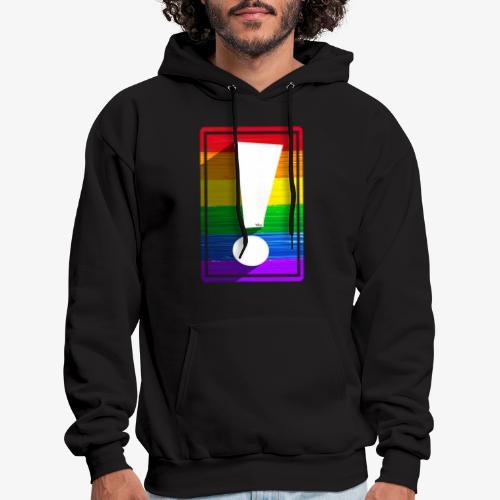 LGBTQ Pride Exclamation Point - Men's Hoodie