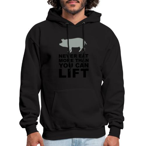 Never eat more than you can lift 2c (++) - Men's Hoodie