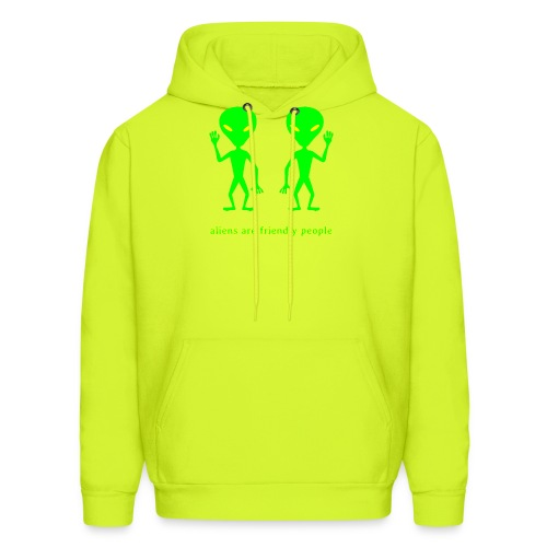aliens are friendly people - Men's Hoodie