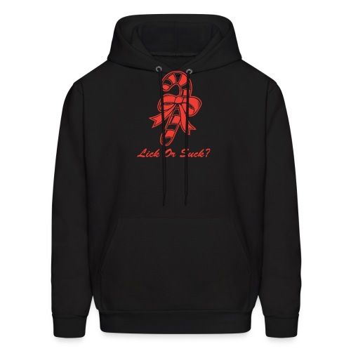 Lick Or Suck Candy Cane - Men's Hoodie