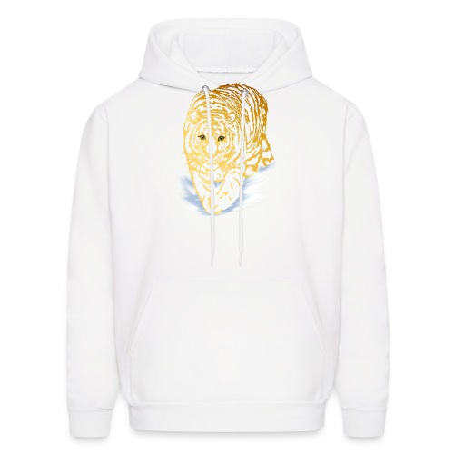 Golden Snow Tiger - Men's Hoodie