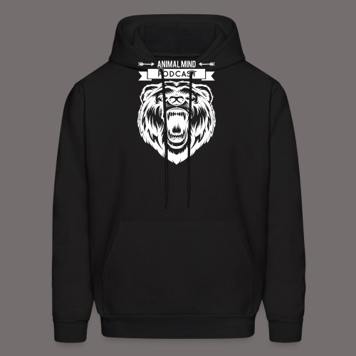 Animal Mind Podcast - Growling Bear Logo - Men's Hoodie