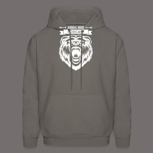 Animal Mind Podcast - Growling Bear Logo - Men's Hoodie