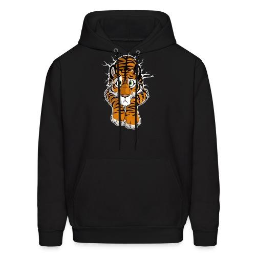 STUCK Tiger Orange (double-sided) - Men's Hoodie