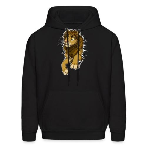 STUCK Lion (white cracks) - Men's Hoodie