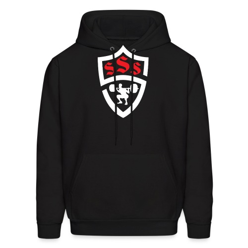 Logo Only White and Red - Men's Hoodie