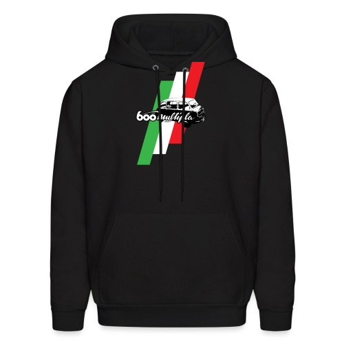 Fiat 600 Multipla script and illustration - - Men's Hoodie
