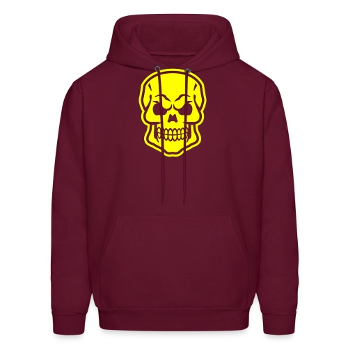 Skull vector yellow - Men's Hoodie