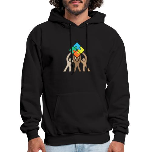 Teamwork and Unity Jigsaw Puzzle Logo - Men's Hoodie
