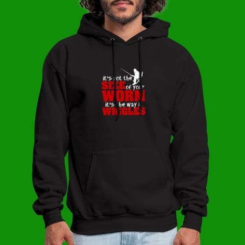 Not the Size of Your Worm Fishing - Men's Hoodie