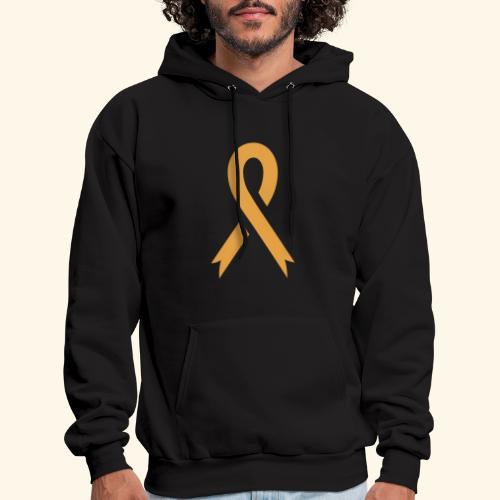 gold ribbon - Men's Hoodie