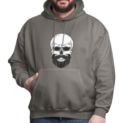 Skull with beard - Men's Hoodie