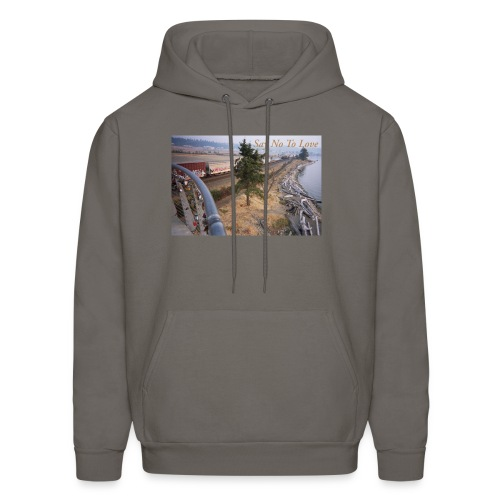 Abandoned Railroad Say Not To Love Film Photograph - Men's Hoodie