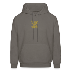 tshirt_pilotVersion_nologo_gold - Men's Hoodie