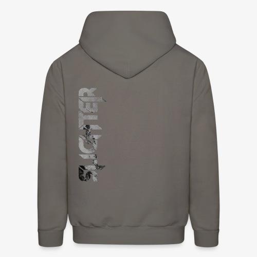 Slighter Line Glitch Logo - Men's Hoodie