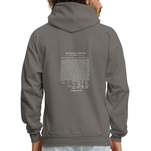 Declaration of Independence White Lettering - Men's Hoodie