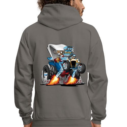 Custom T-bucket Roadster Hotrod Cartoon - Men's Hoodie