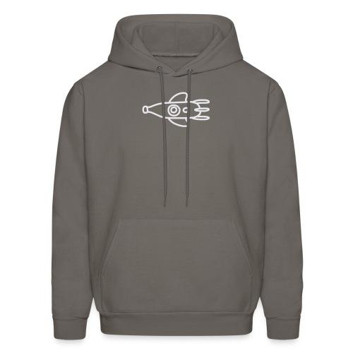doodle logo (blanc) - Men's Hoodie