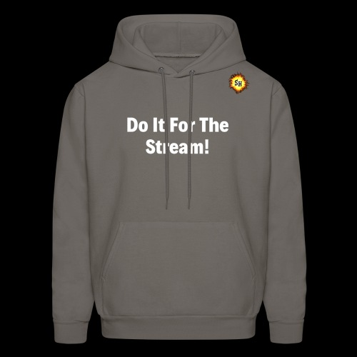 Do It For The Stream White With SH Logo - Men's Hoodie