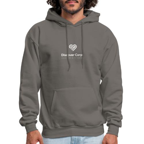 DiscoverCorp Logo Vertical Rev High - Men's Hoodie
