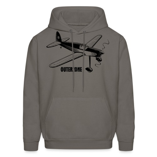 Outerzone logo, black - Men's Hoodie