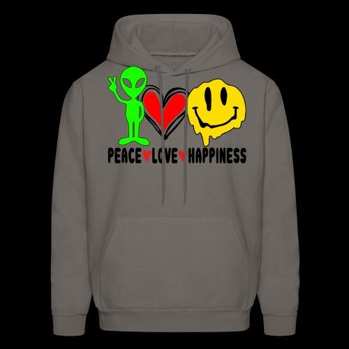 Peace Love Happpiness - Men's Hoodie
