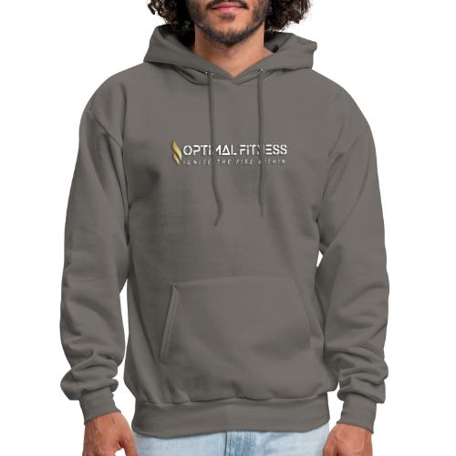 white logo, keep calm and hiit it white - Men's Hoodie