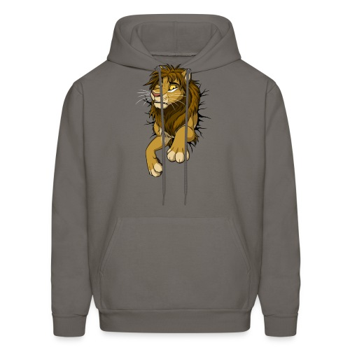 STUCK Lion (black cracks) - Men's Hoodie