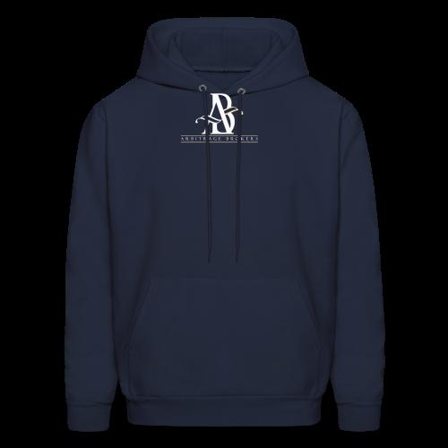 Arbitrage White Logo - Men's Hoodie