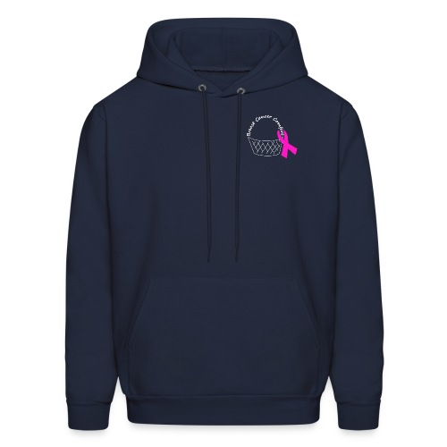 White Comfort Basket - Breast Cancer - Men's Hoodie