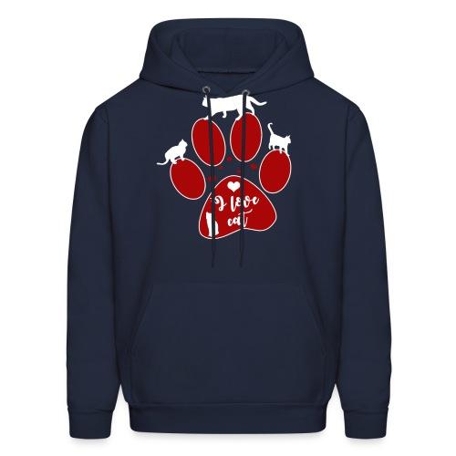 I Love Cats T-shirt - Men's Hoodie