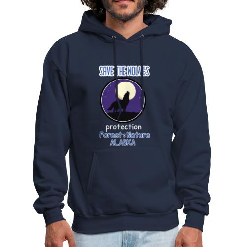 SAVE THE WOLVES - Men's Hoodie