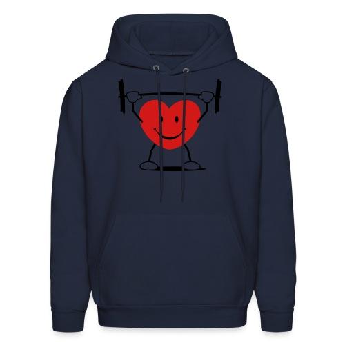 heart sports orig - Men's Hoodie