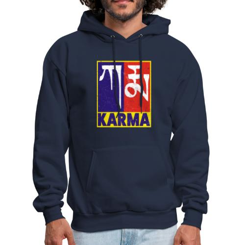 Karma Tibetan Word Text - Men's Hoodie
