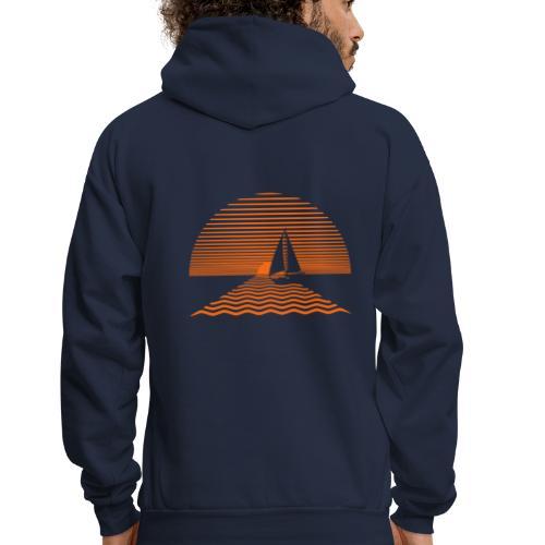 Sunset Sailboat - Men's Hoodie