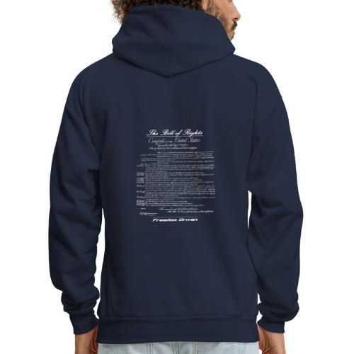US Bill of Rights White Lettering - Men's Hoodie