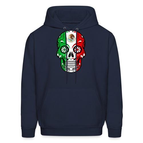 Mexican Flag Calavera T Shirt - Men's Hoodie