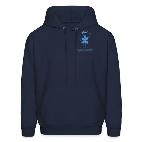 Autism Boy Small Blue - Men's Hoodie